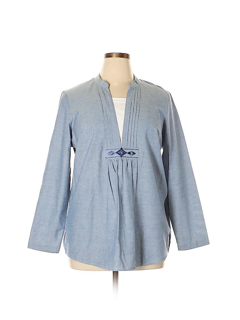 Blair Women Long Sleeve Blouse Size L