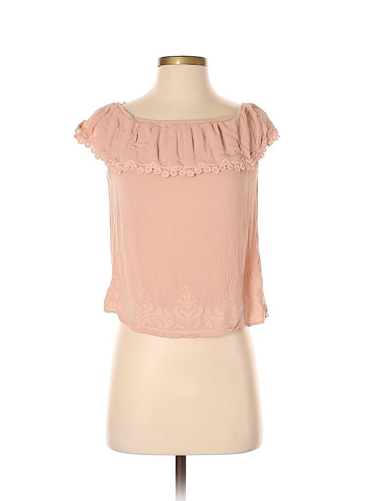 Chloe K Women Short Sleeve Blouse Size S