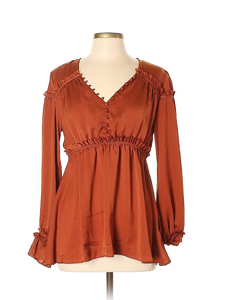 Amaryllis Women Long Sleeve Blouse Size Med - Lg