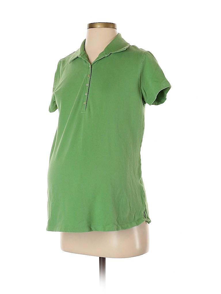Duo Maternity Women Short Sleeve Polo Size S (Maternity)