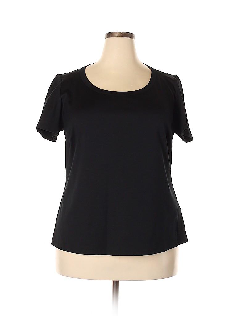 Lafayette 148 New York Women Short Sleeve Top Size 2X (Plus)
