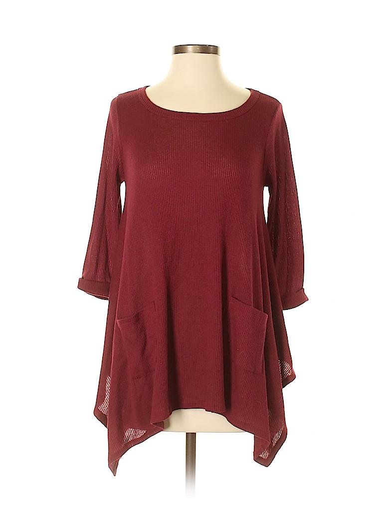 Orange Creek Women 3/4 Sleeve Top Size S