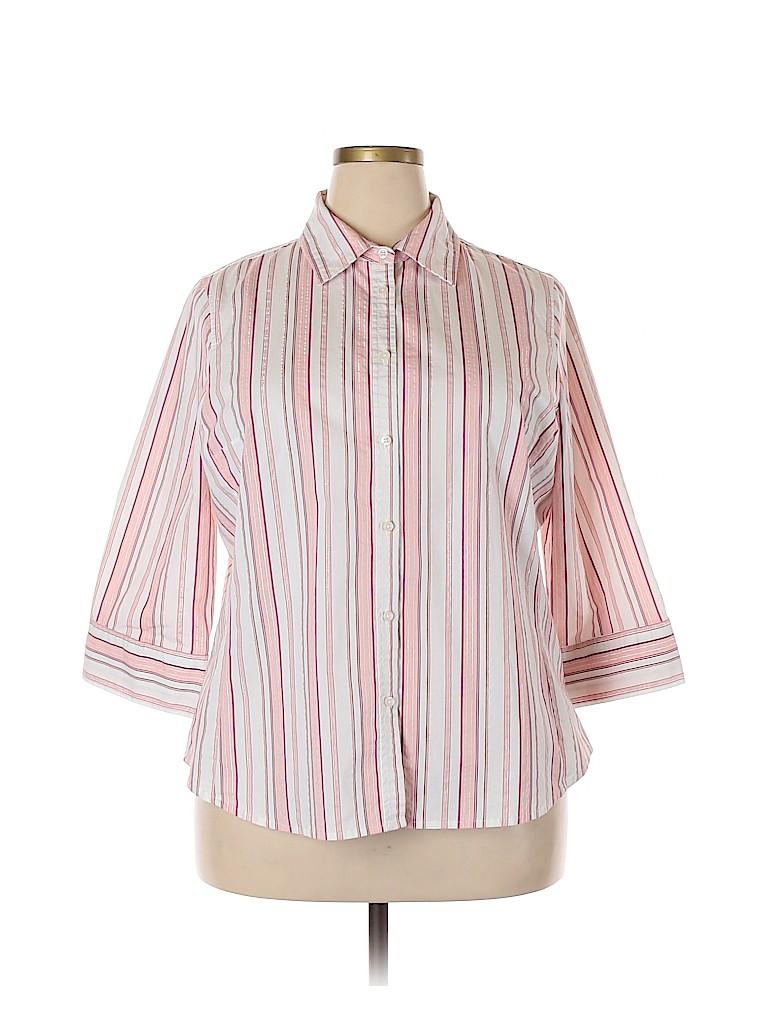 Merona Women 3/4 Sleeve Button-Down Shirt Size 20 (Plus)