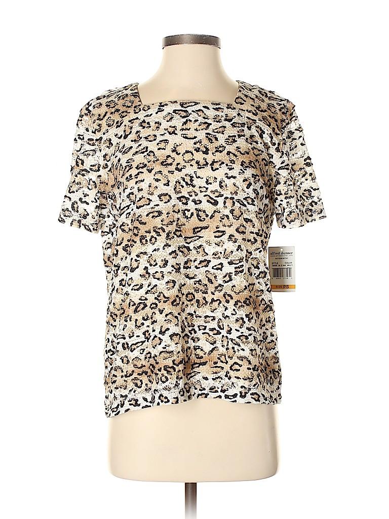 Alfred Dunner Women Short Sleeve Blouse Size S (Petite)