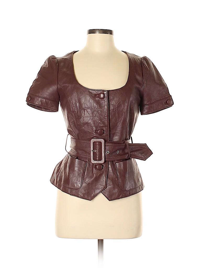 Arden B. Women Leather Jacket Size S