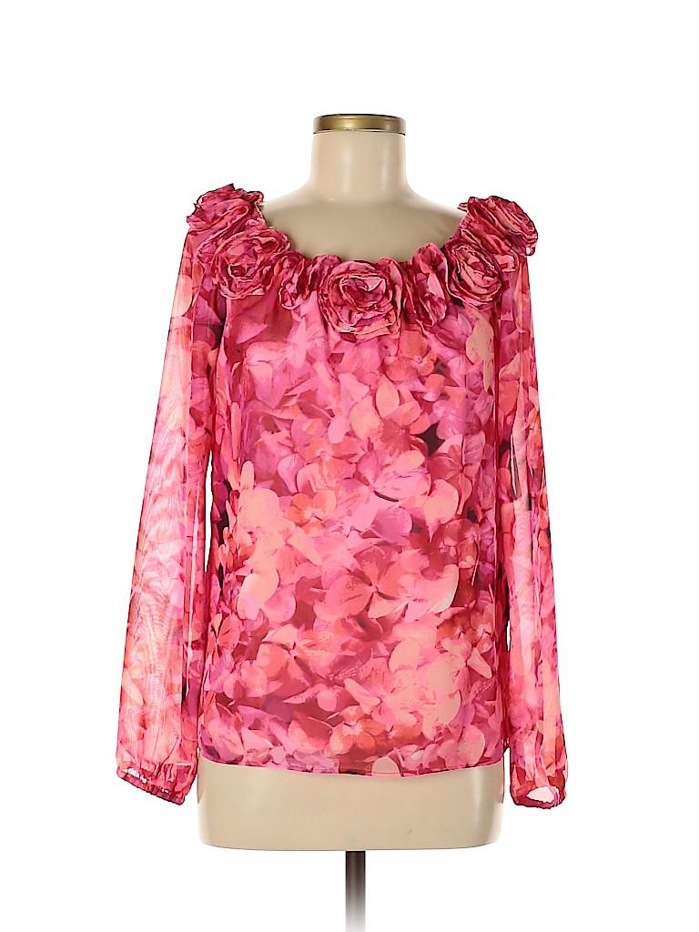 Leslie Fay Women Long Sleeve Blouse Size 6