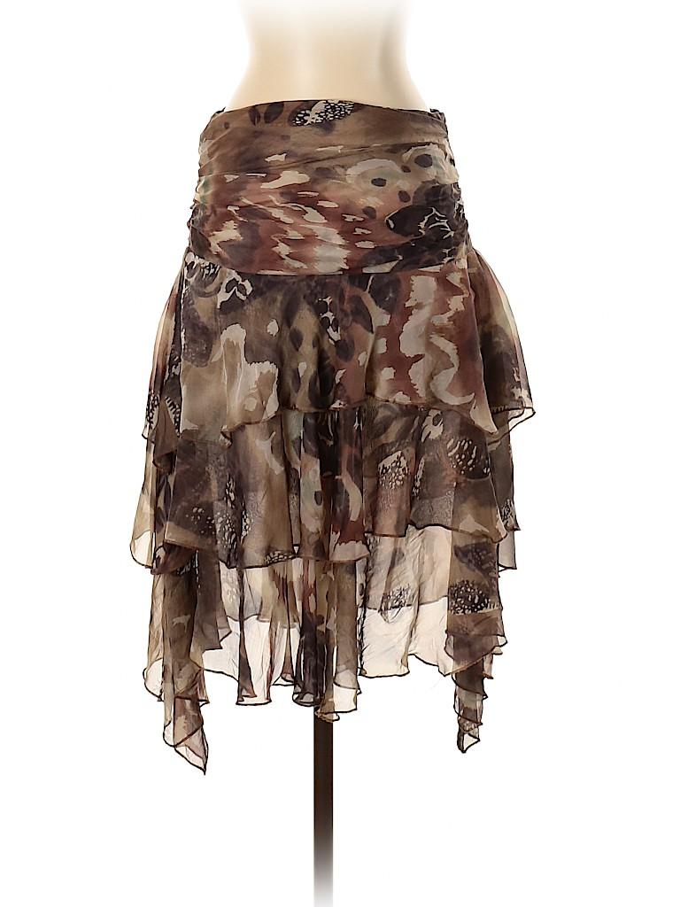 Zara Women Silk Skirt Size 4