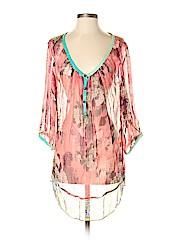 Aratta Silent Journey 3/4 Sleeve Silk Top