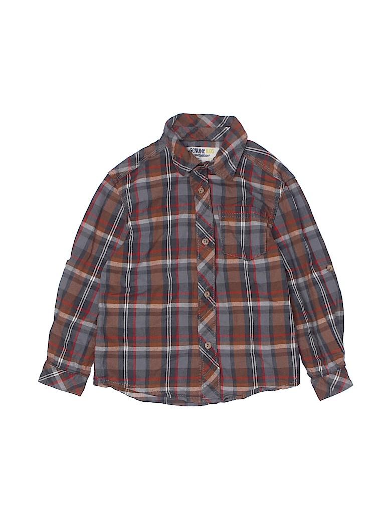 Genuine Kids from Oshkosh Boys Long Sleeve Button-Down Shirt Size 5T