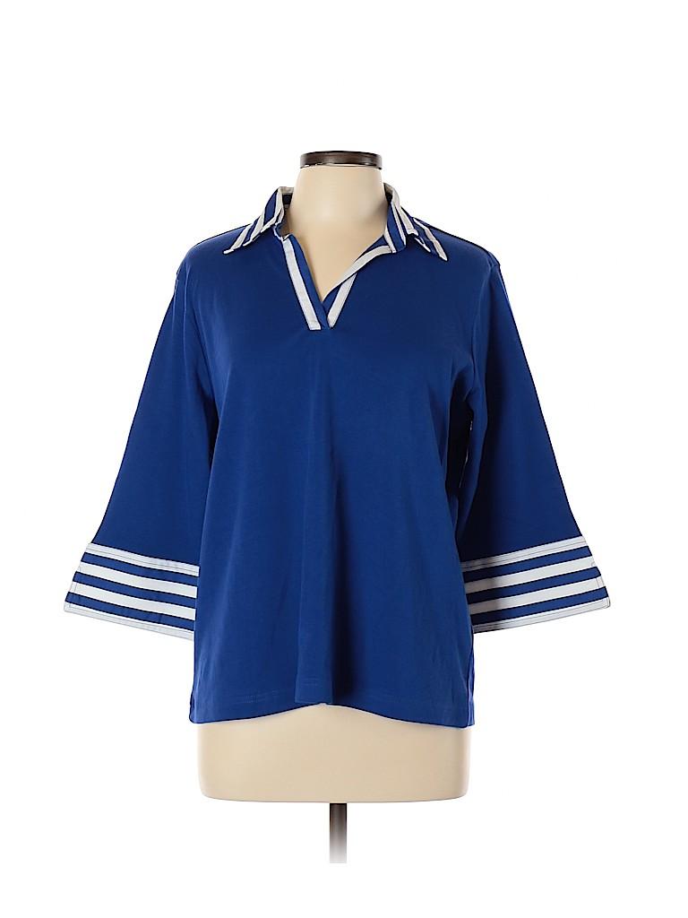 Blair Women 3/4 Sleeve Polo Size L