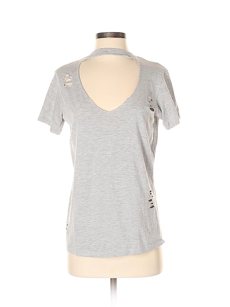 Polly & Esther Women Short Sleeve T-Shirt Size S