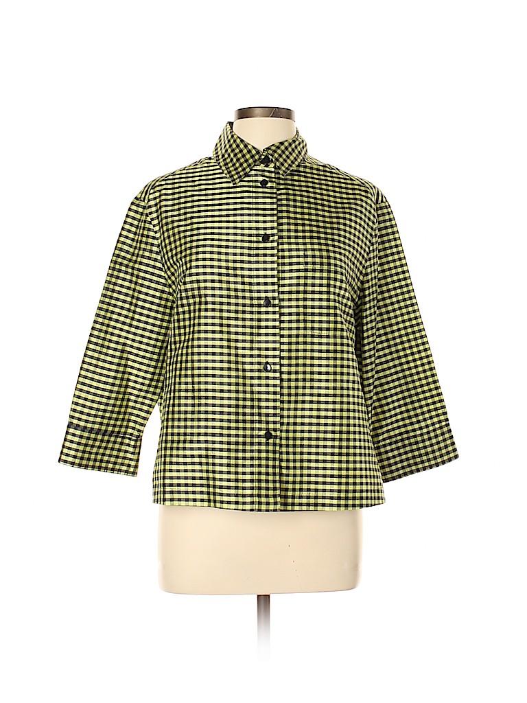 Peter Nygard Women 3/4 Sleeve Silk Top Size 10