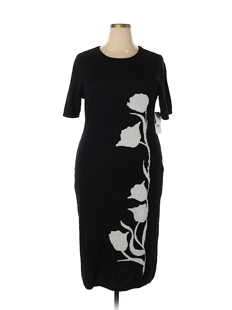 44e7da9ac0 Just Fab Floral Black Casual Dress Size 2X (Plus) - 38% off | thredUP
