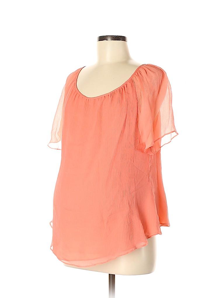 Rosie Pope Women Short Sleeve Silk Top Size M (Maternity)