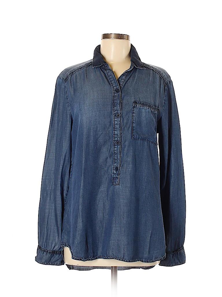 Bella Dahl Women Long Sleeve Button-Down Shirt Size M