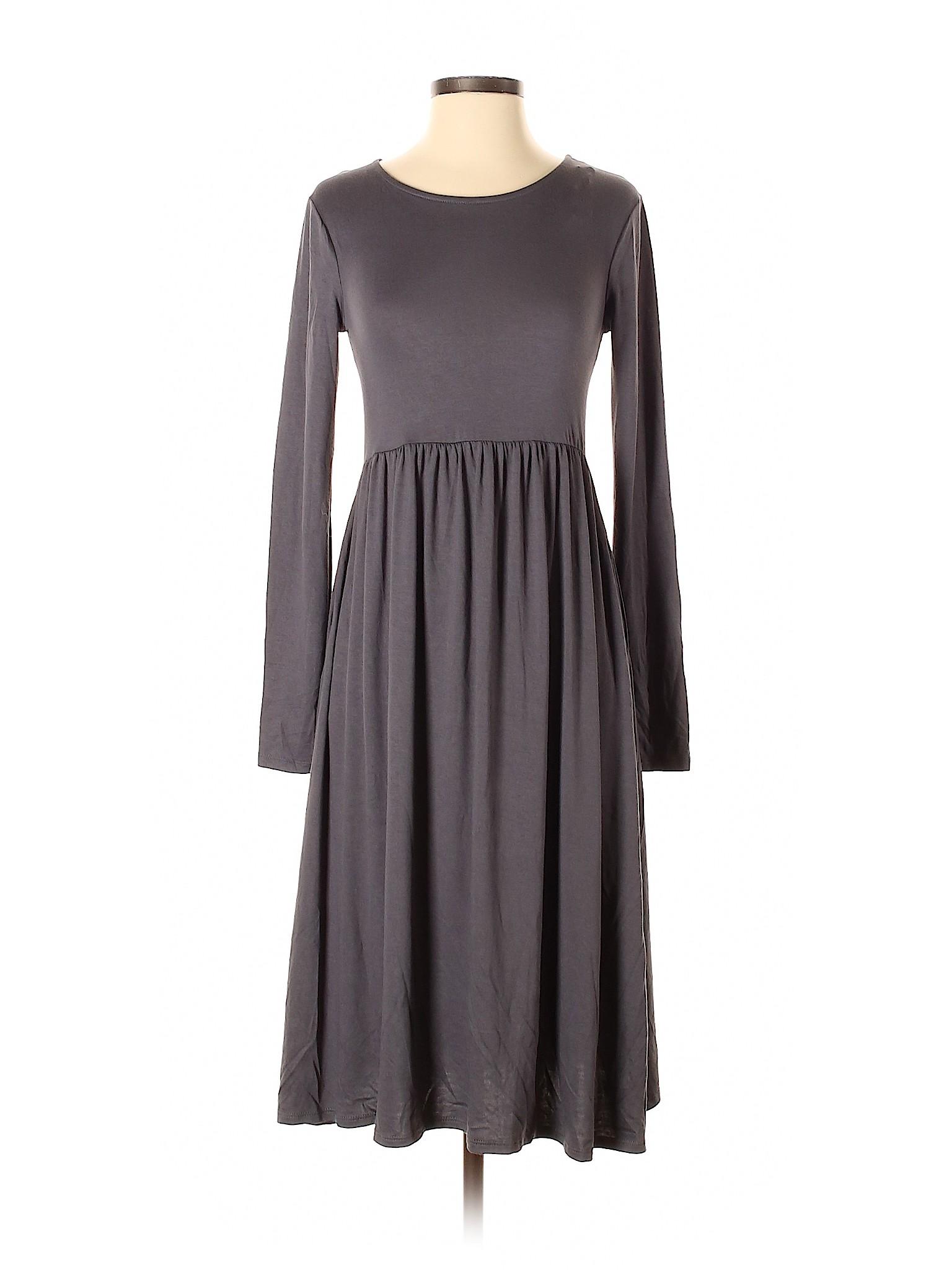 baa712ed4bf Zenana Outfitters Women Gray Casual Dress Sm