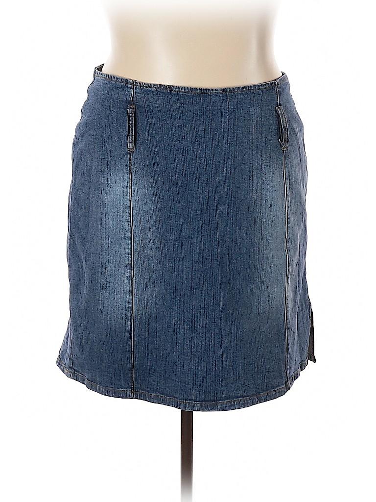 Zana Di Jeans Women Denim Skirt Size 20 (Plus)