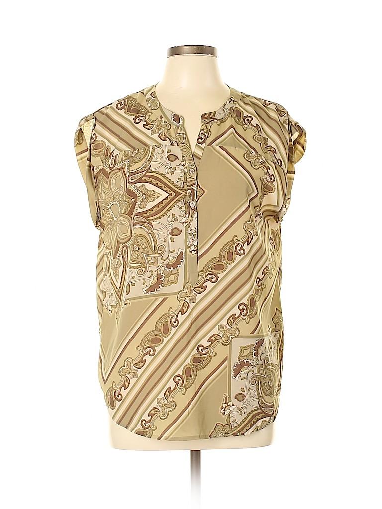 Bandolino Women Short Sleeve Blouse Size M