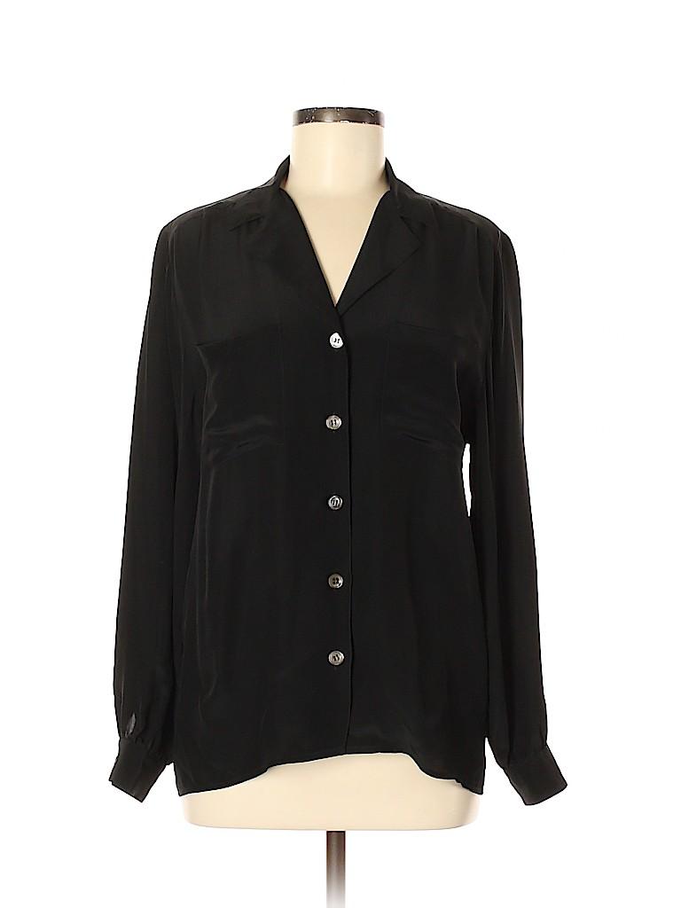 Harve Benard by Benard Holtzman Women Long Sleeve Silk Top Size 6