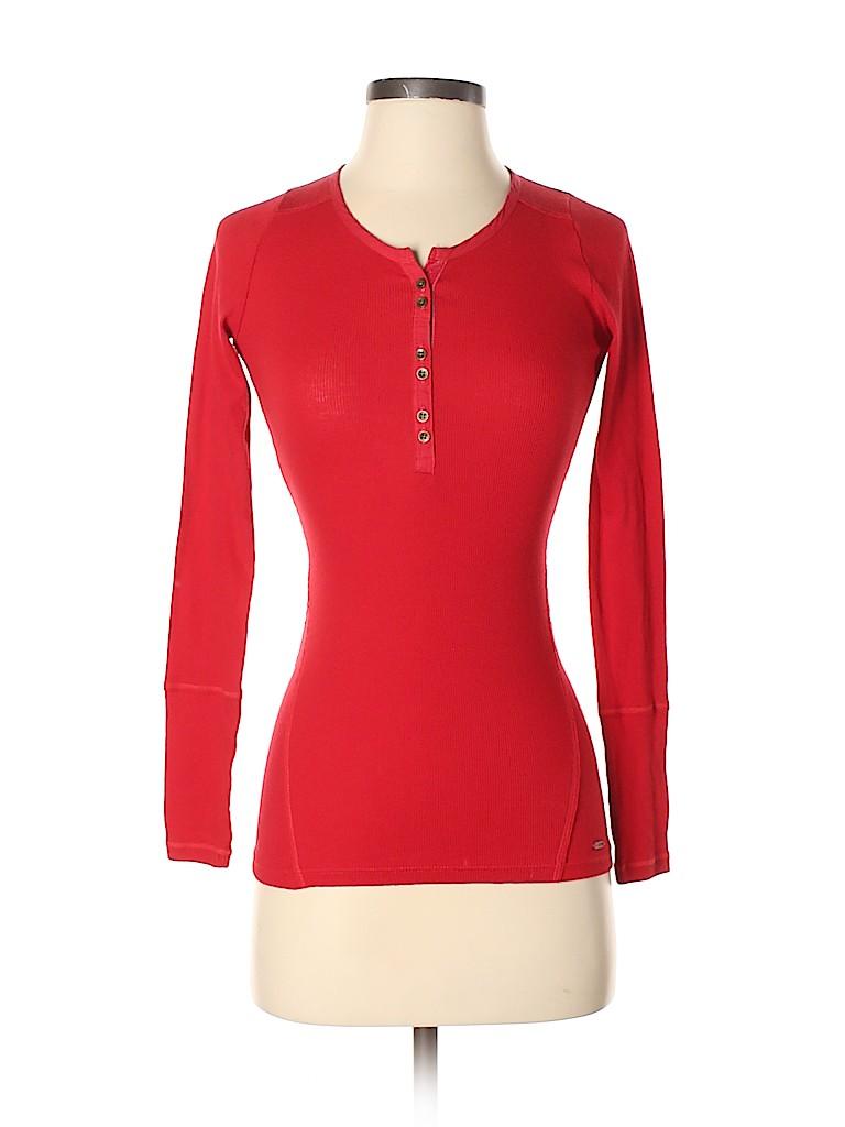 Hollister Women Long Sleeve Henley Size XS