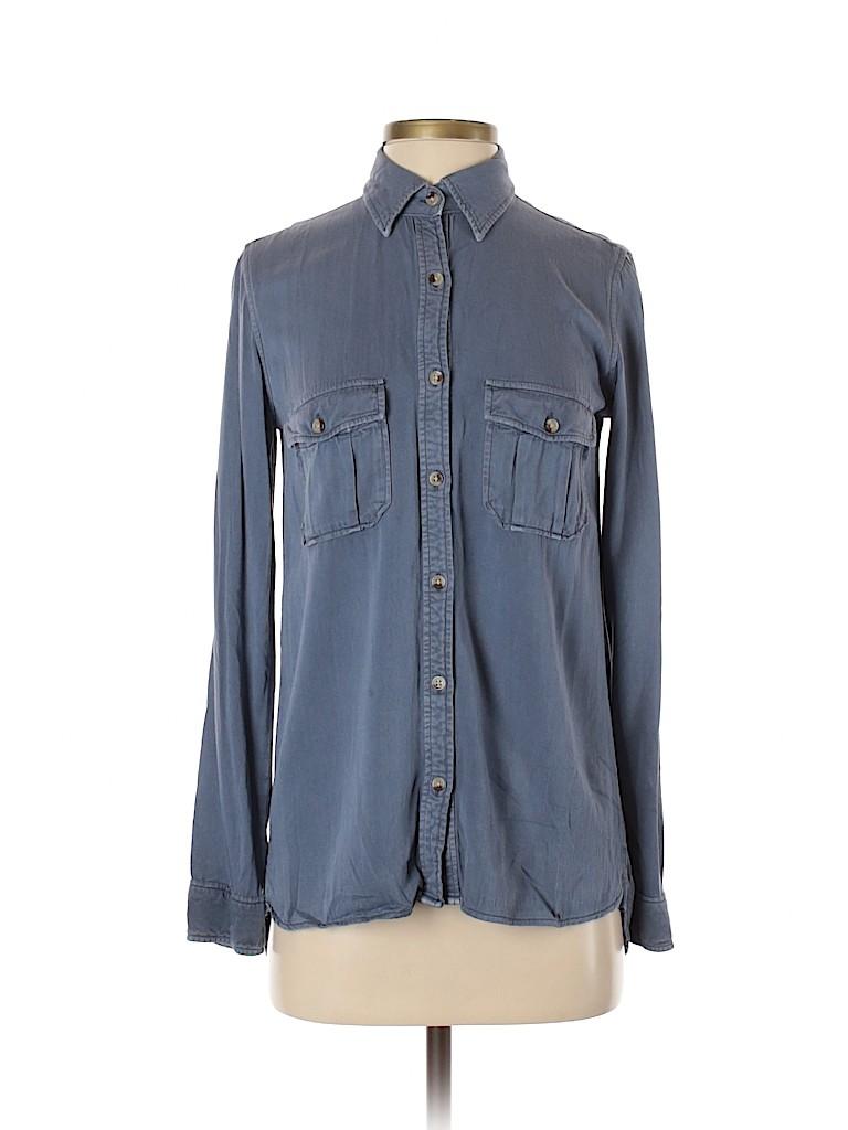 Harper Women Long Sleeve Button-Down Shirt Size S