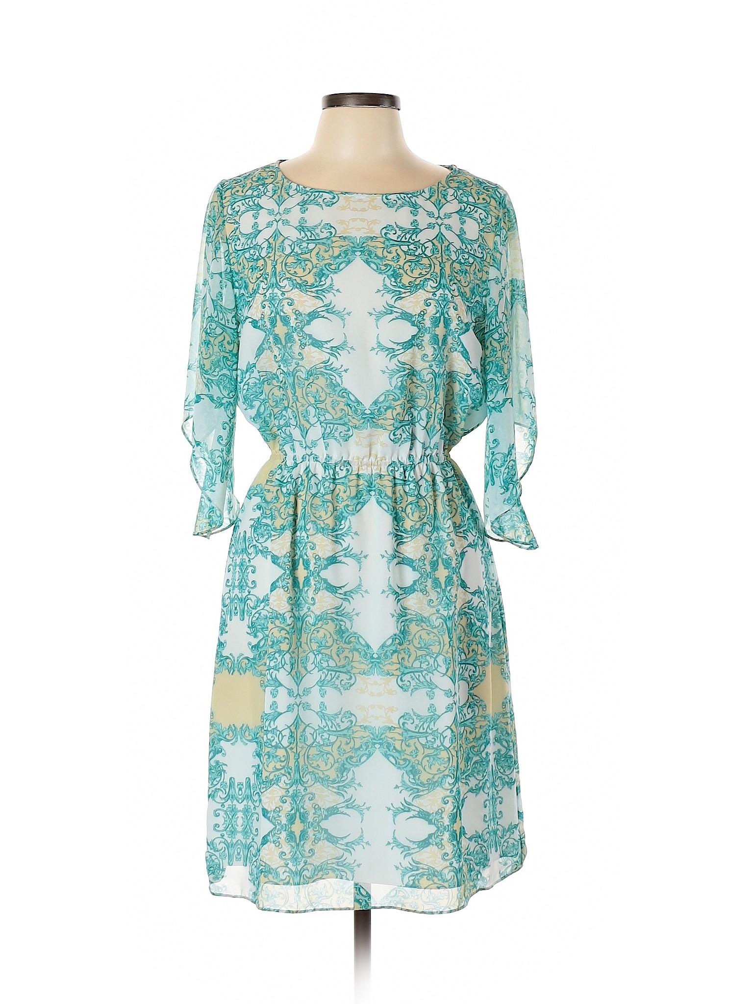 4c42853fcaa Details about Antonio Melani Women Blue Casual Dress 8
