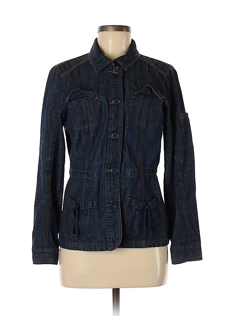 French Cuff Women Denim Jacket Size M