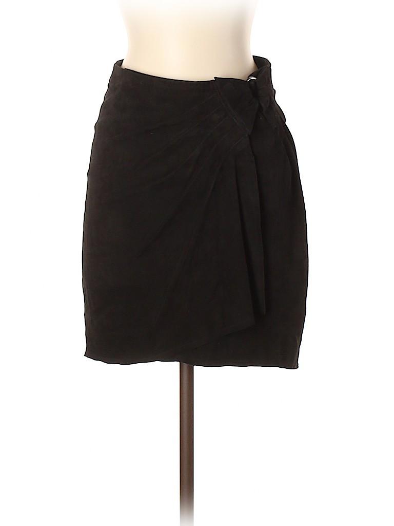 Zadig & Voltaire Women Leather Skirt Size 36 (EU)