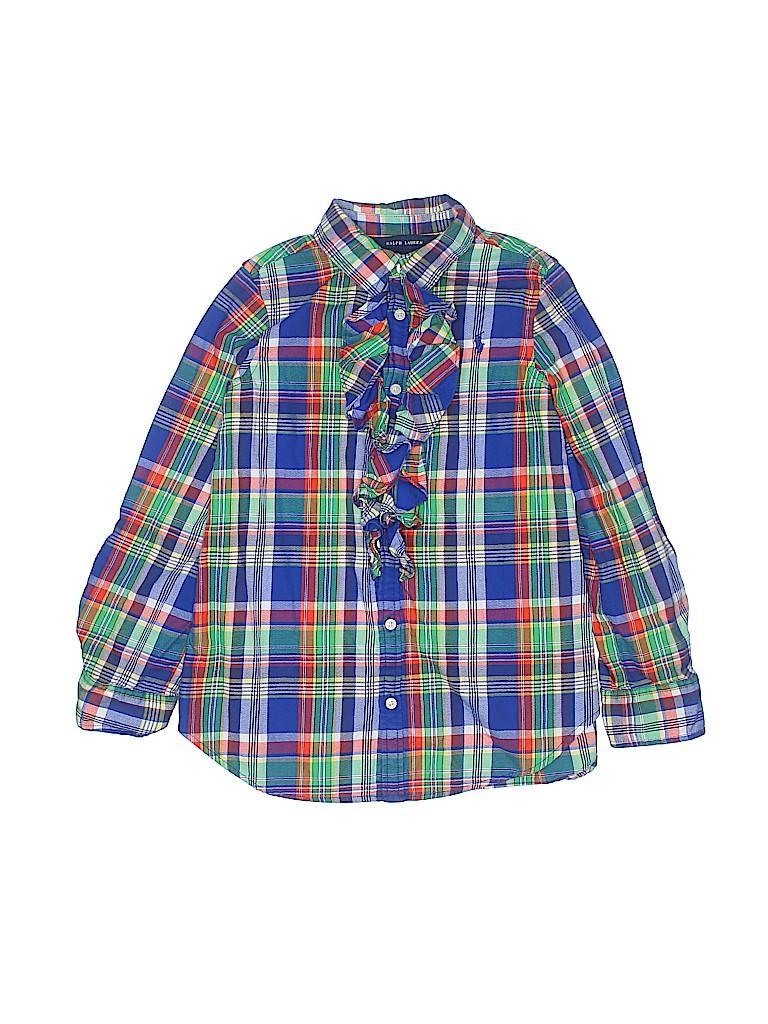 Ralph Lauren Girls Long Sleeve Blouse Size 8