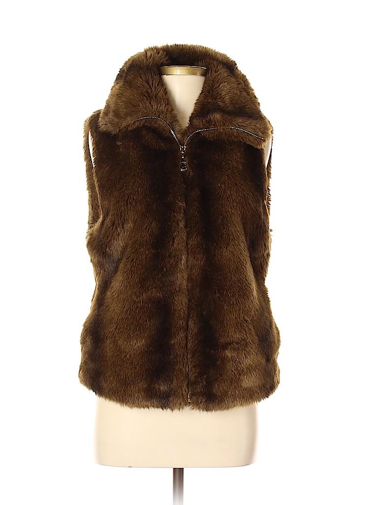 C. Wonder Women Faux Fur Vest Size M