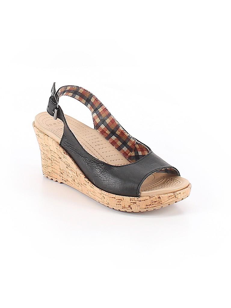 de3ee372c818d6 Crocs Solid Black Wedges Size 6 - 55% off