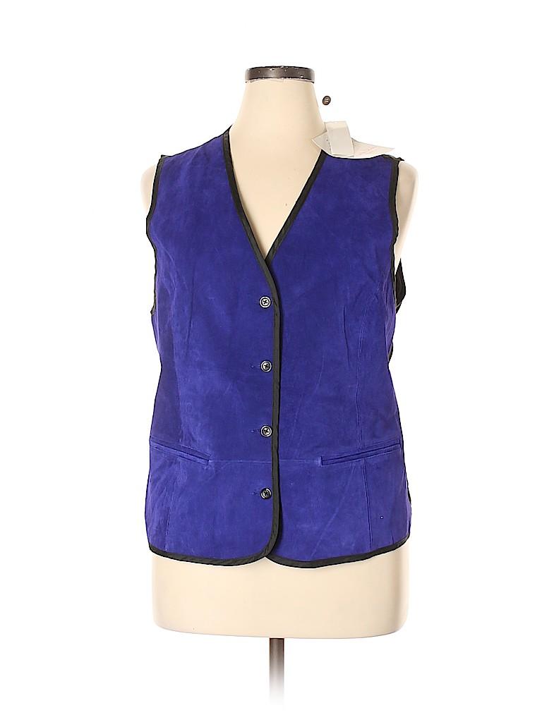 Diane von Furstenberg Women Tuxedo Vest Size 1X (Plus)