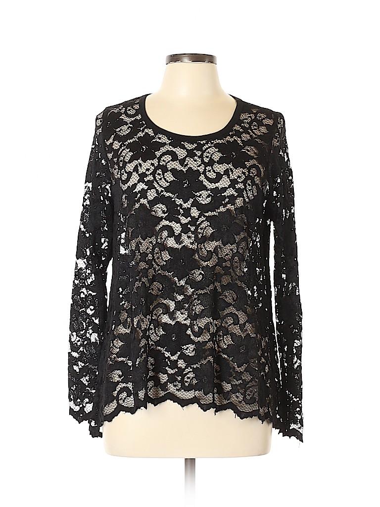 Karen Kane Women Long Sleeve Blouse Size L