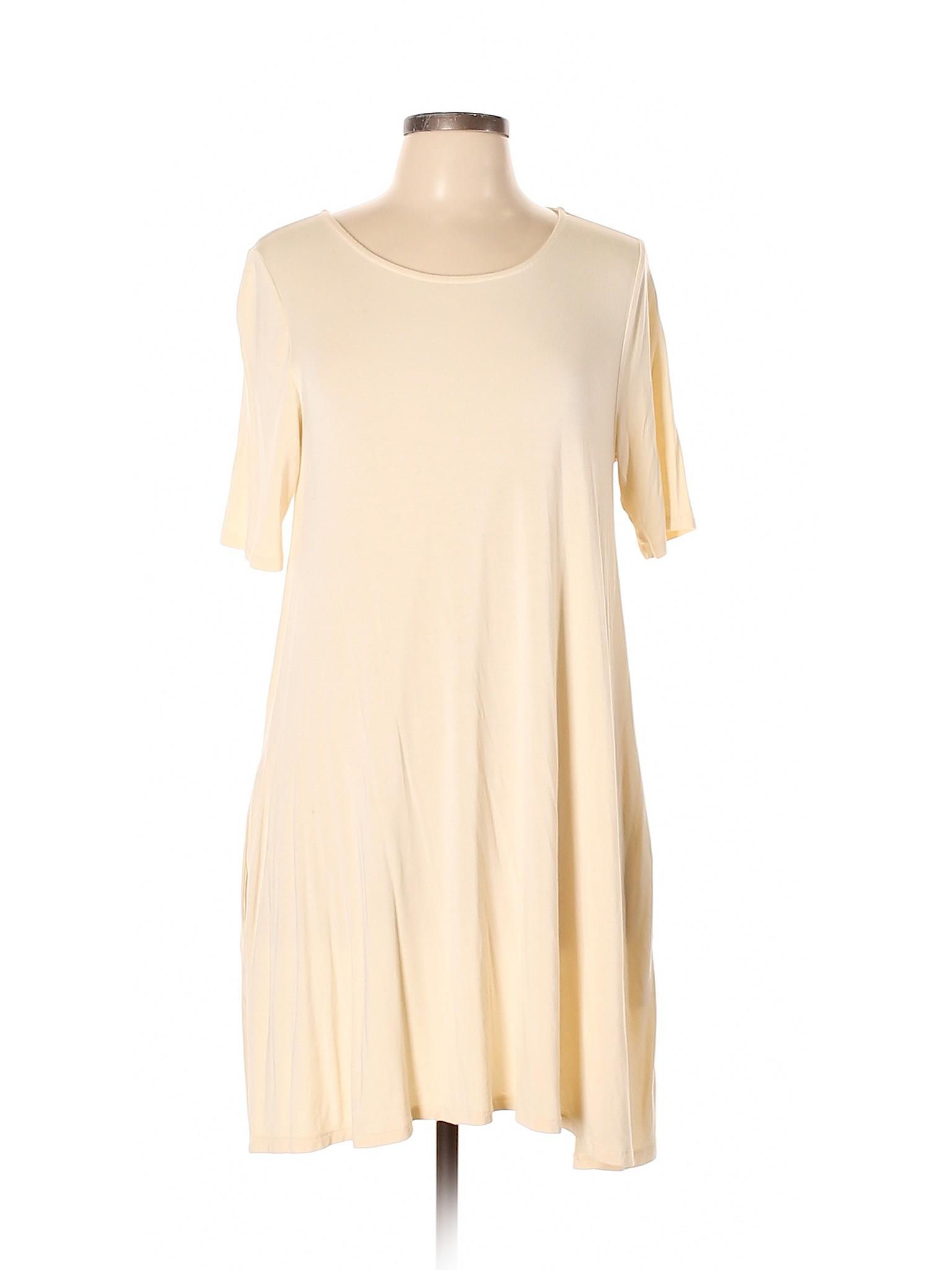 dc9a2df079875 Agnes & Dora Women Ivory Casual Dress Lg | eBay