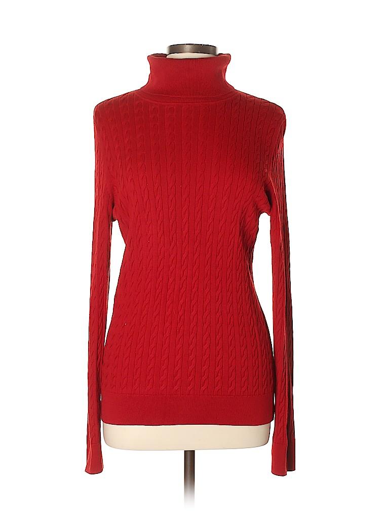 Talbots Women Turtleneck Sweater Size L