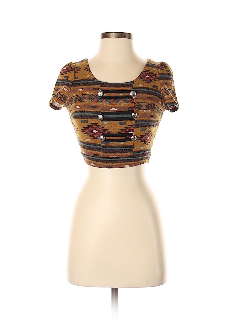 Papaya Women Short Sleeve Top Size S
