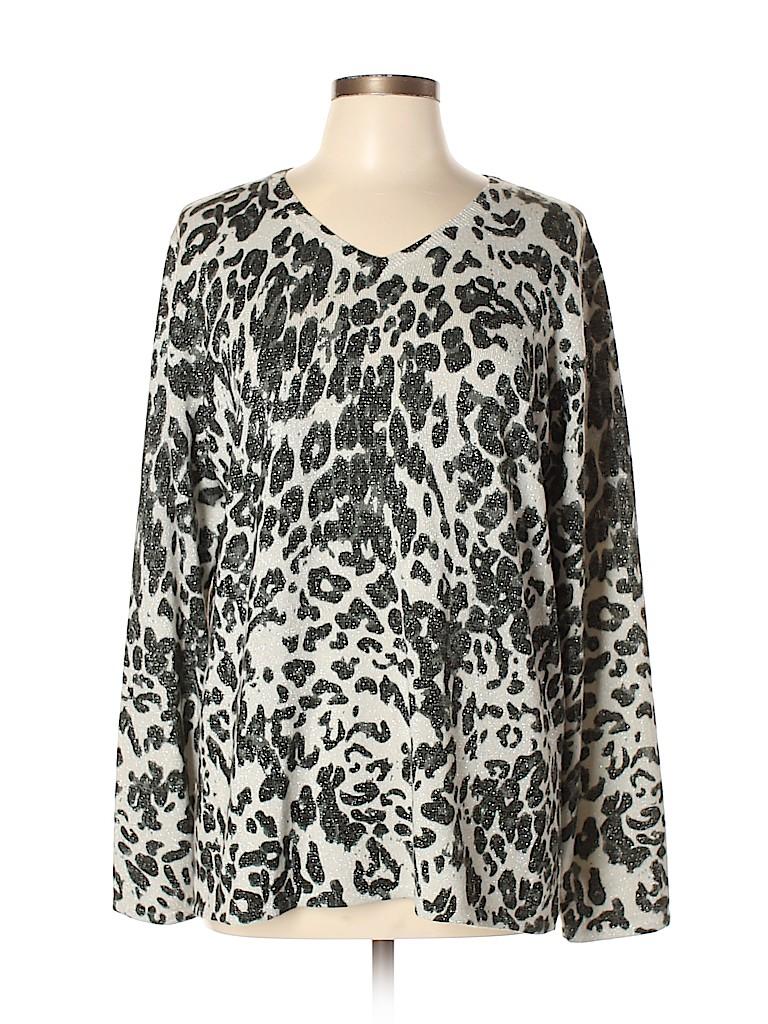 Susan Graver Women Pullover Sweater Size L