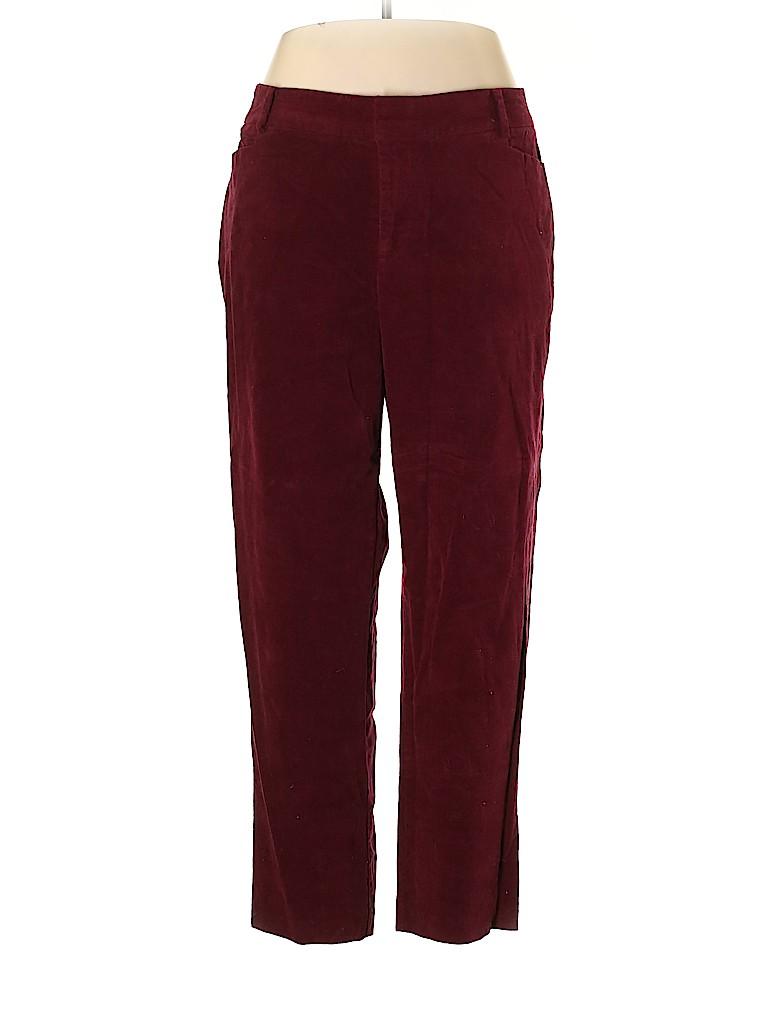 ELOQUII Women Velour Pants Size 18 (Plus)