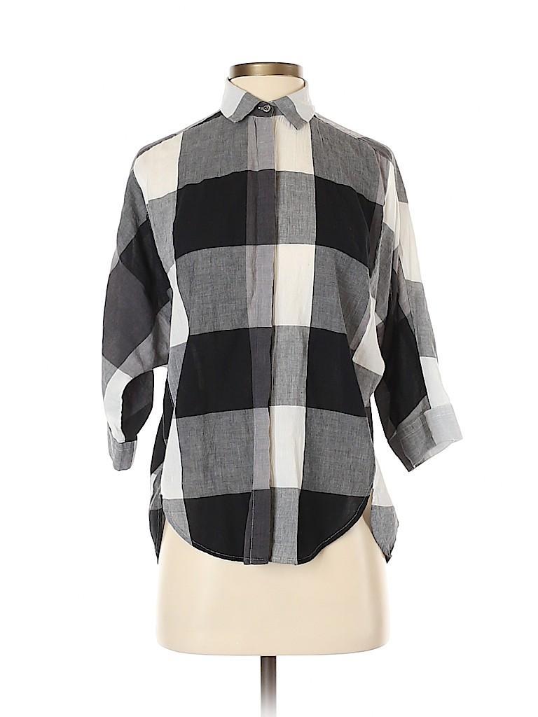 Ann Taylor LOFT Women 3/4 Sleeve Button-Down Shirt Size XS