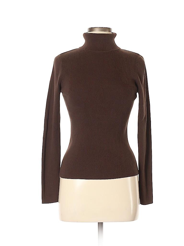 Moda International Women Turtleneck Sweater Size M