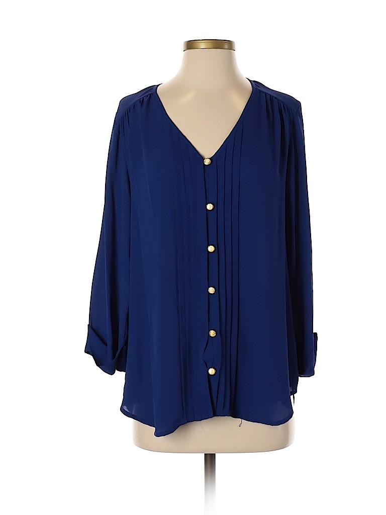 Everly Women 3/4 Sleeve Blouse Size M