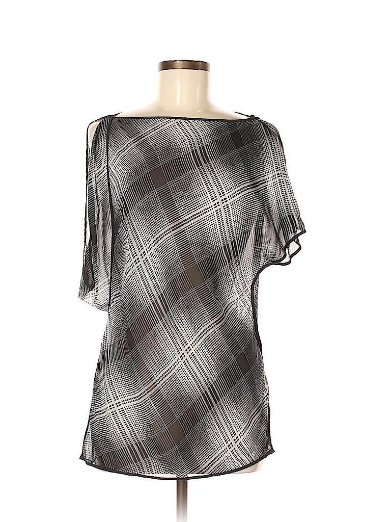 BCBGMAXAZRIA Women Short Sleeve Silk Top Size M