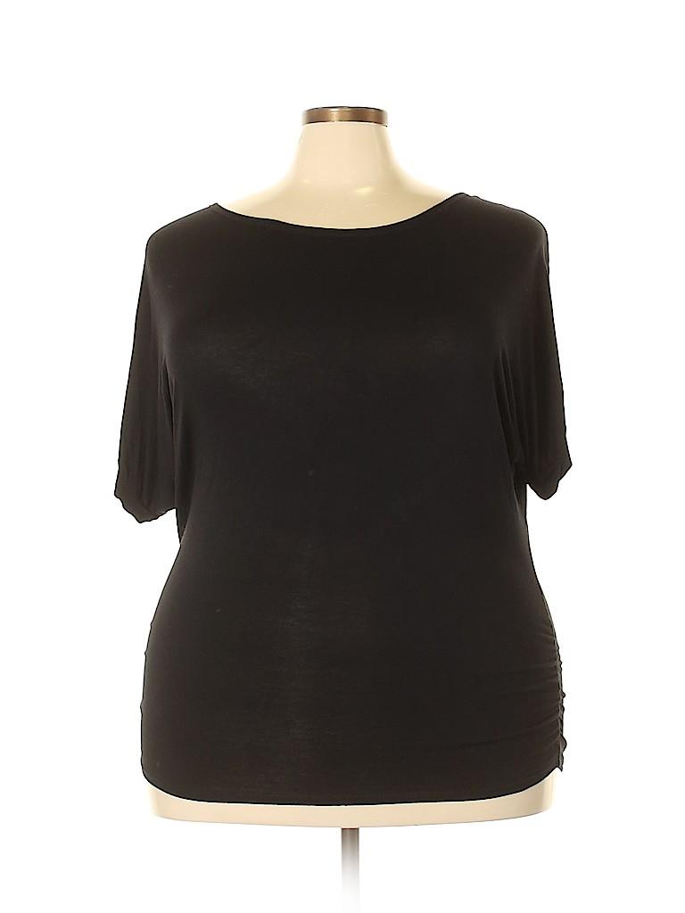 Doublju Women Short Sleeve Top Size XXL
