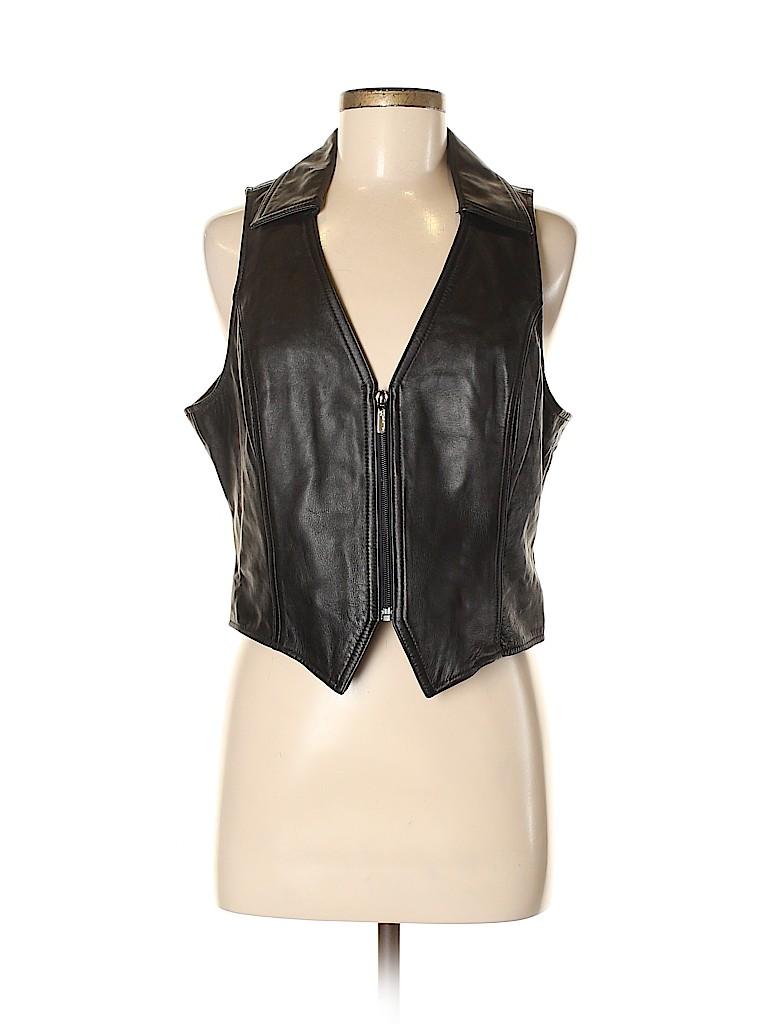 Wilsons Leather Women Vest Size L