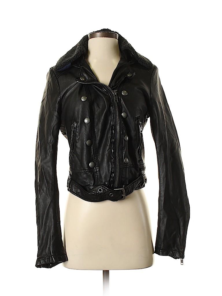 Free People Women Faux Leather Jacket Size S