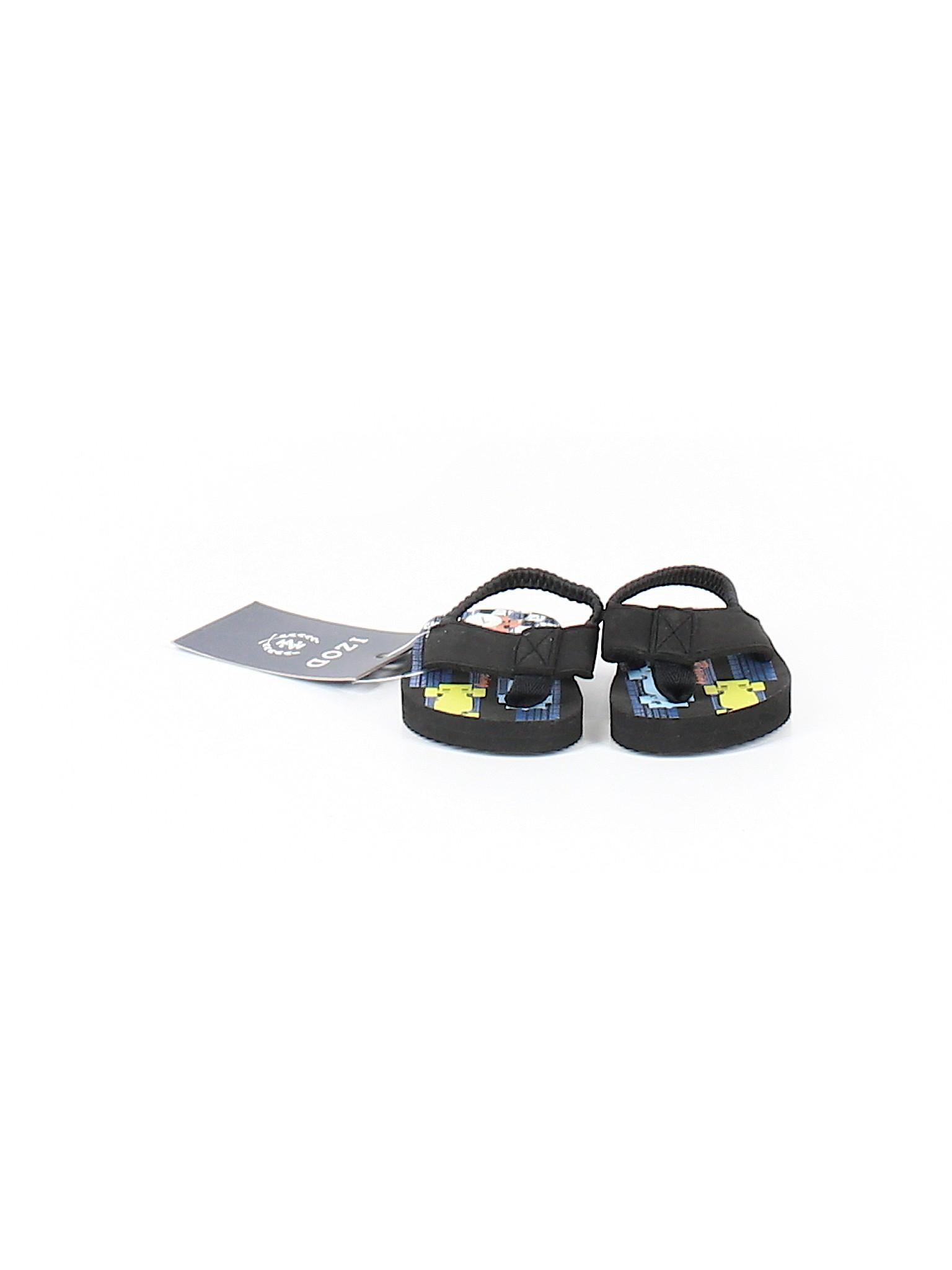 2dfe140d400e IZOD Print Black Flip Flops Size 0-3 mo - 46% off