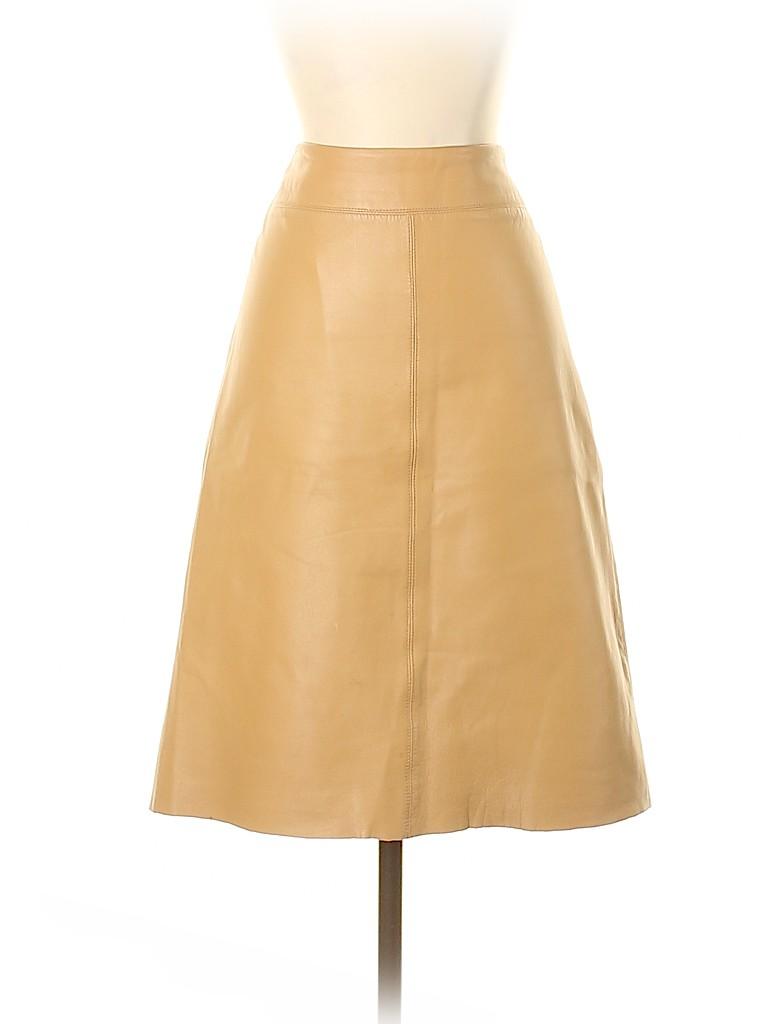BCBGMAXAZRIA Women Leather Skirt Size 8