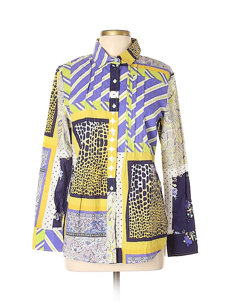 Elliott Lauren Women Long Sleeve Button-Down Shirt Size 12
