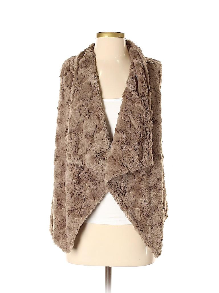 Elevenses Women Faux Fur Vest Size S