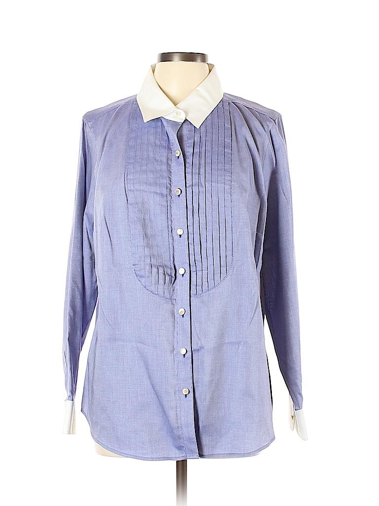 Talbots Women Long Sleeve Button-Down Shirt Size 16